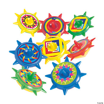 Plastic Star Spin Tops