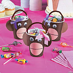 Miss Sock Monkey Treat Cups Idea