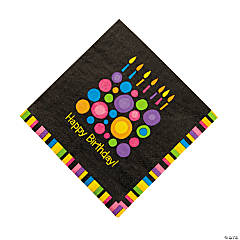 Birthday Cake Dots Luncheon Napkins