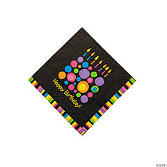 Birthday Cake Dots Beverage Napkins