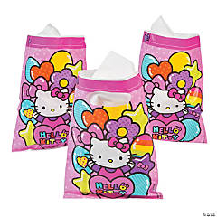 Plastic Hello Kitty Rainbow Treat Bags