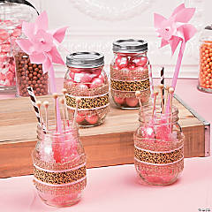 1st Birthday Cheetah Favor Jars Idea