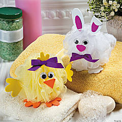 Bath Poof Chick & Bunny Idea