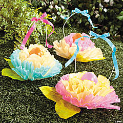 Coffee Filter Flower Easter Basket Idea