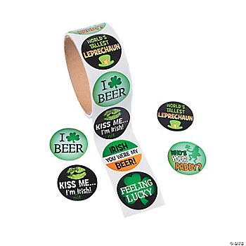 St. Patrick's Day Adult Roll Stickers PDQ