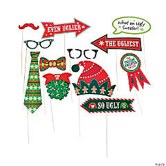 Ugly Sweater Photo Stick Props
