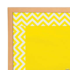 Yellow Chevron Bulletin Board Borders