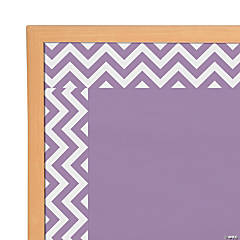 Purple Chevron Bulletin Board Borders