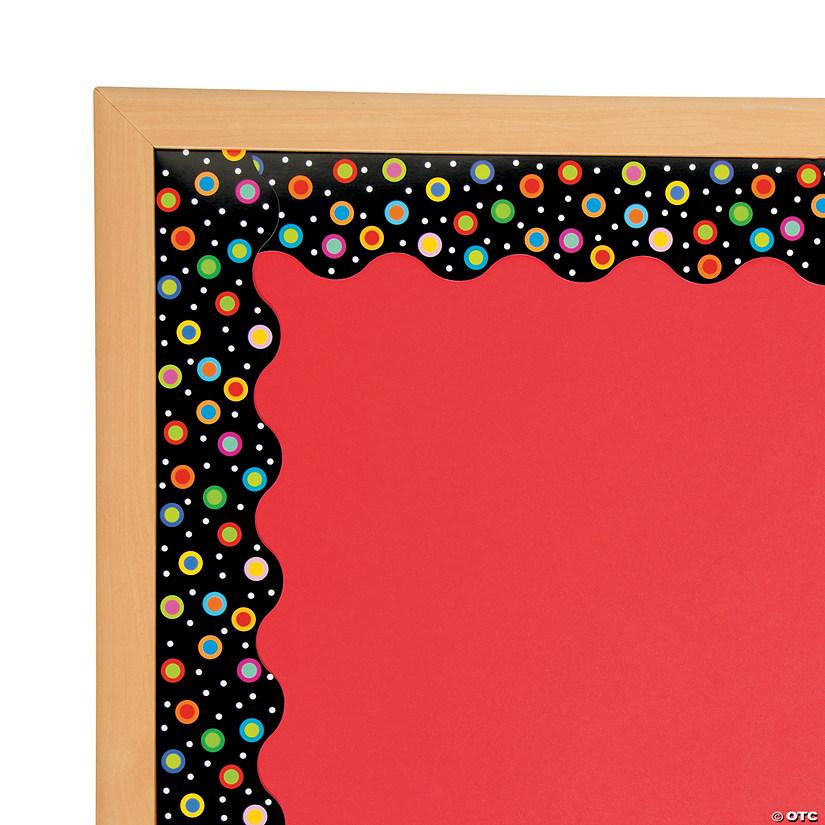 Dots On Black Bulletin Board Borders
