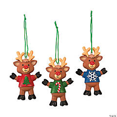 Reindeer with T-Shirt Ornaments