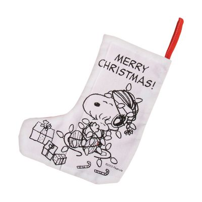 Peanuts Christmas Stockings color in