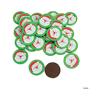 Christmas Coins Chocolate Candy With Stickers Oriental