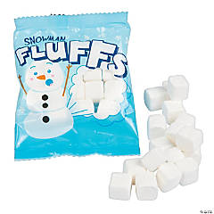 Snowman Fluffs Marshmallow Fun Packs