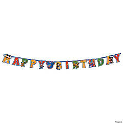 Mickey & Friends Add-an-Age Jumbo Letter Banner Kit