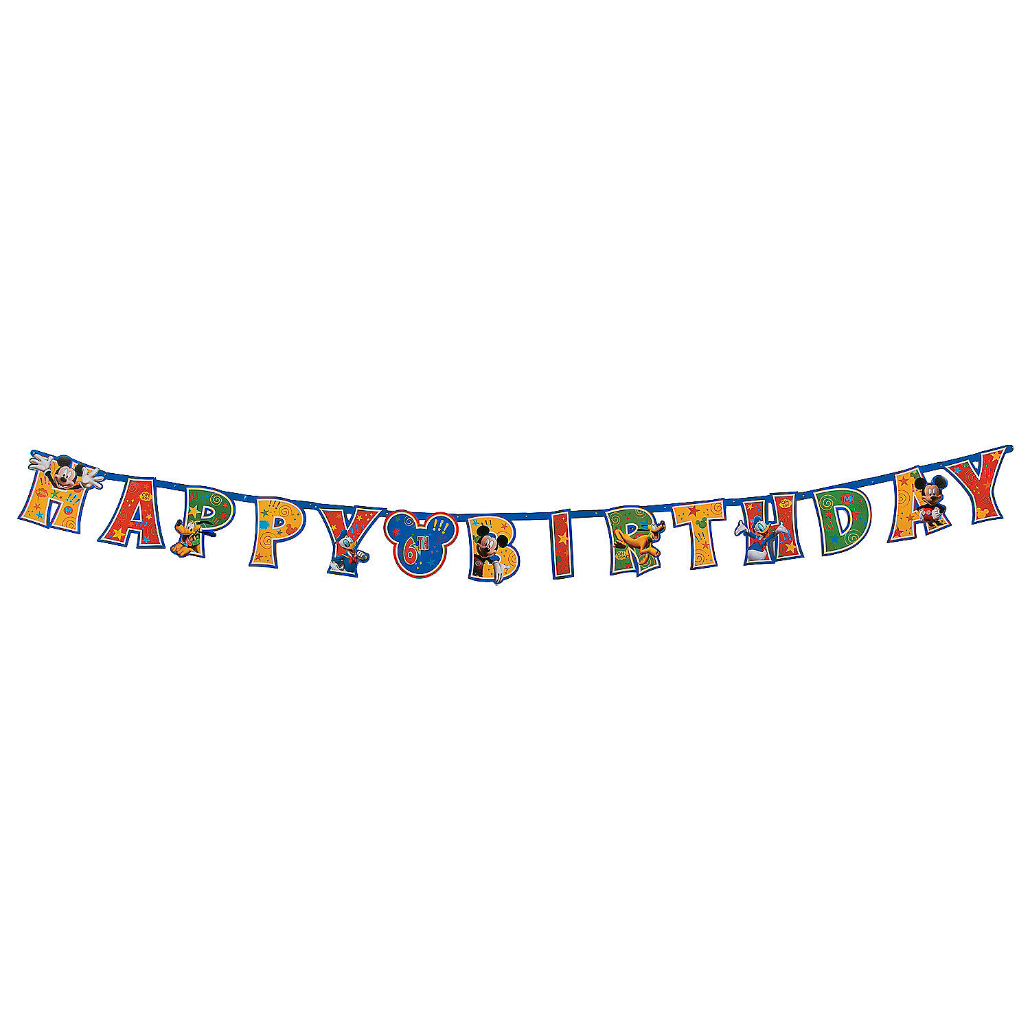 mickey friends add an age jumbo letter banner kit With letter banner kit