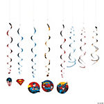 Superman Hanging Swirl Decorations Value Pack