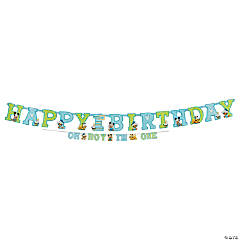 Mickey's 1st Birthday Jumbo Letter Banner Kit