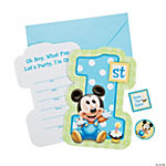 Mickey's 1st Birthday Invitations