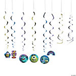 Monsters University Hanging Swirl Decorations Value Pack