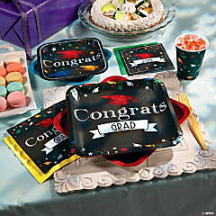 Chalkboard Grad Party Supplies