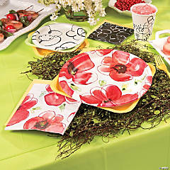 Kathy Davis Mod Poppies Party Supplies