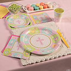 Sweet Christening Pink Party Supplies