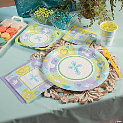 Sweet Christening Blue Party Supplies