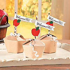 Caramel Apple Paper Treat Box Craft Idea