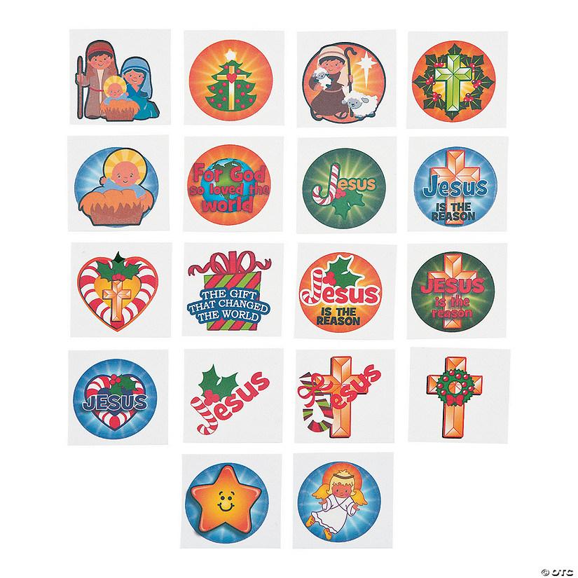 Religious Christmas Ornament Assortment: Christmas Religious Tattoo Assortment