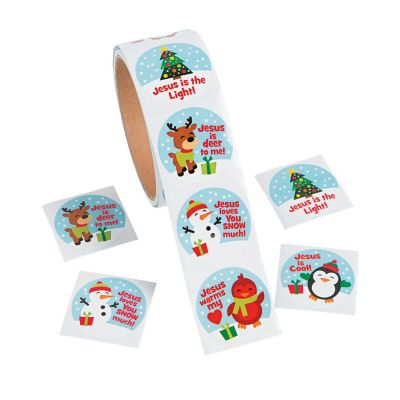 Religious Christmas giveaways stickers bulk