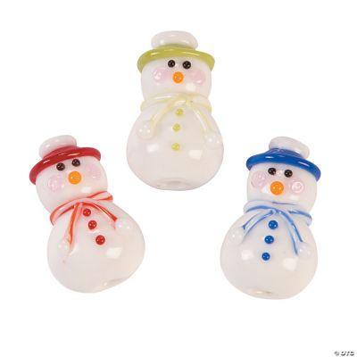 Cute Snowman Lampwork Beads
