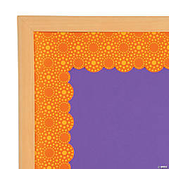 Lots of Dots Orange Bulletin Board Borders