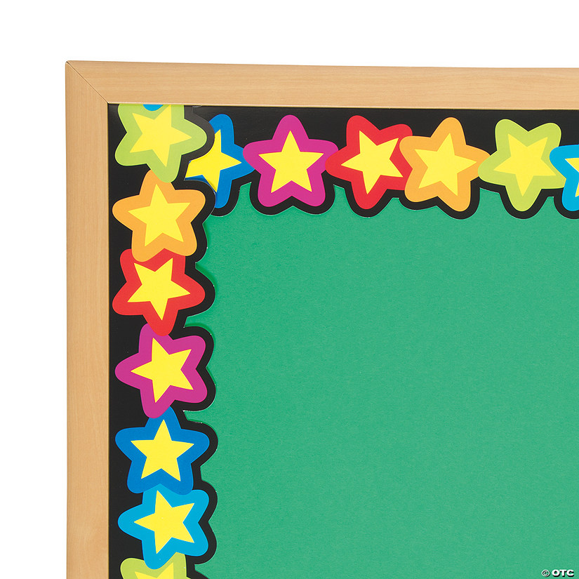Classroom Border Ideas ~ Rainbow of stars bulletin board borders