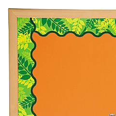Fern Leaves Wavy Bulletin Board Border
