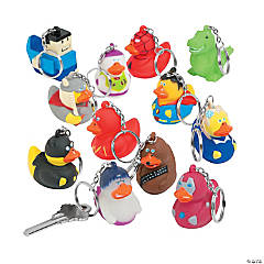 Vinyl Hero Rubber Ducky Collectable Key Chains