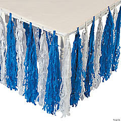 Paper Winter Fringe Table Skirt