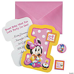 Minnie's 1st Birthday Invitations