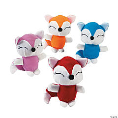Bright Stuffed Foxes