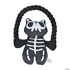 Plush Skeleton with Rope Dog Toy