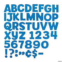 Blue Bulletin Board Letters