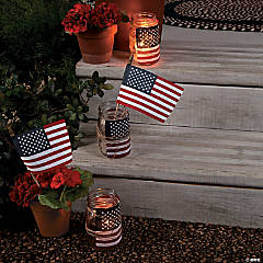 Americana Mason Jar Luminary Idea