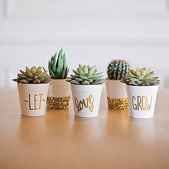 Let Love Grow Flowerpots Idea
