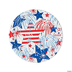 USA Fireworks Dinner Plates