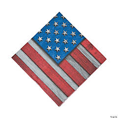 Patriotic Steel Luncheon Napkins