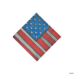 Patriotic Steel Beverage Napkins