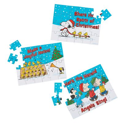 Religious Charlie Brown puzzle giveaways