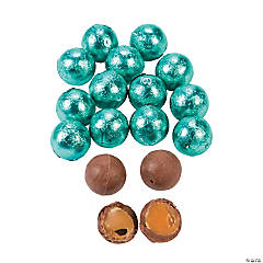 Robin Egg Blue Caramel Chocolate Balls