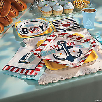 Nautical baby shower party supplies for K decorations trading