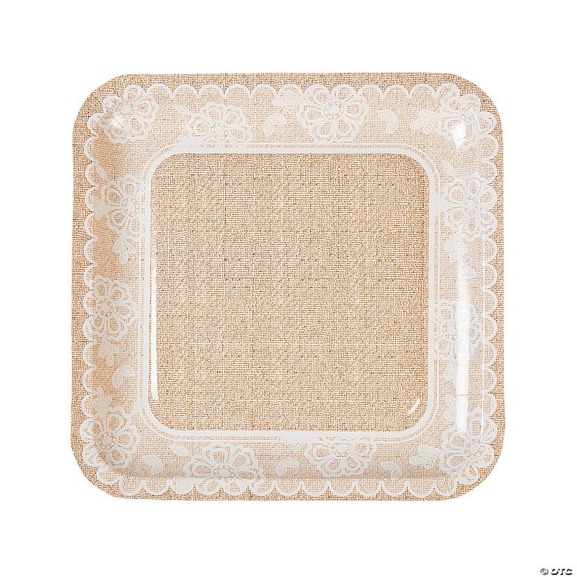sc 1 st  Oriental Trading & Burlap u0026 Lace Paper Dinner Plates