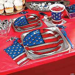 Patriotic Steel Party Supplies